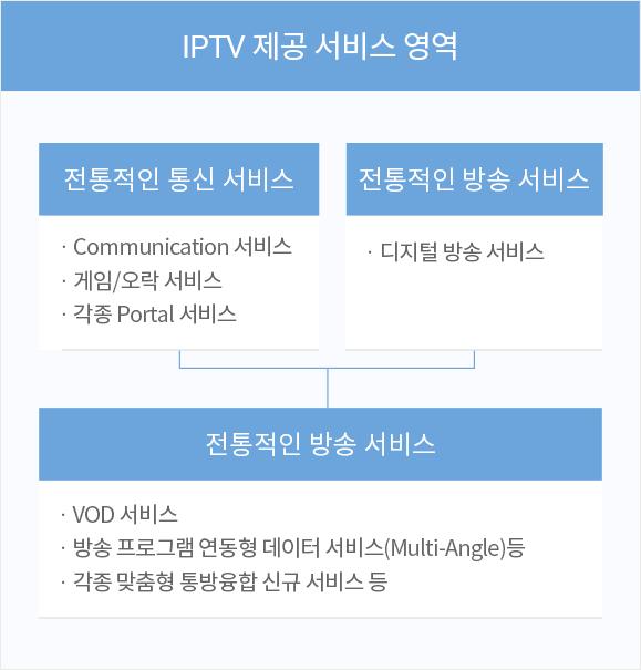 IPTV 제공 서비스 영역