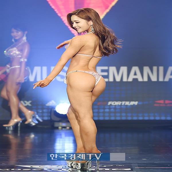 [포토]머슬마니아 미즈비키니 쇼트 3위 최규진, 숨막히는 뒤태