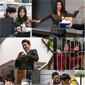 열혈사제,이하늬,김남길,배우,촬영장,모습