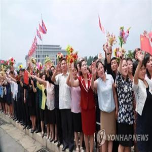 환영,주석,평양,북한