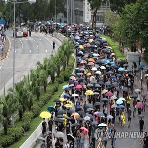 시위,홍콩,집회,경찰,평화,송환법,이날,참여,시위대,우려
