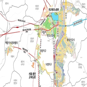 지역,고기동,지하철,서울,연장,대장지구,용서고속도로,용인,개발,판교