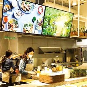 샐러드,채소,동원,시장,자판기,판매,관계자,신선