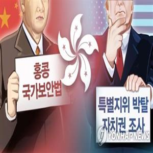 홍콩,미국,중국,발표,이민,홍콩보안법,특별지위,제정