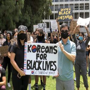 한인,흑인,시위,집회,인종차별,경찰,항의,동참