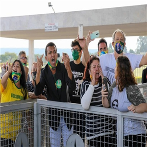 대통령,브라질,지지자,취재진,보우소나