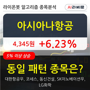 기관,아시아나항공,순매매량