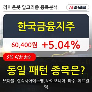 한국금융지주,기관,순매매량