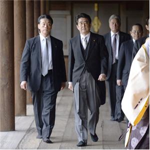 참배,아베,총리,야스쿠니신사,공물,일본
