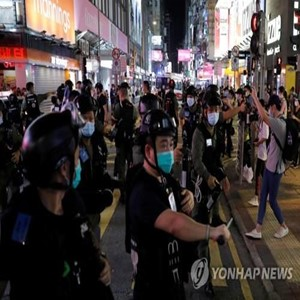 홍콩,경찰,체포,시위,소녀,시위대,중국