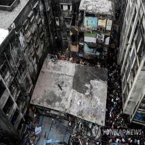 인도,건물,붕괴