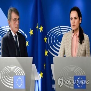 시위,벨라루스,루카셴코,여성,놉스카야,대선,대통령,야권,유럽의회