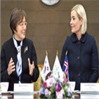 아이슬란드,장관,이화여대,양국,교육