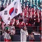 한국,폐회식,신의현,개회식,등장,입장