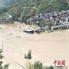 중국,쓰촨성,양쯔강,호우,강수량,일부,지역