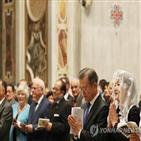 평화,미사,대통령,교황청,파롤린,참석,한반도,연설