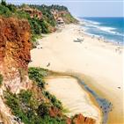 바다,해변,인도,요가,아침,사람,시간,절벽,다른,모습