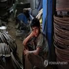 아동노동,지수,세계,중국,인도