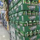 하이트진로,테라,맥주,시장,점유율,맥아,판매,출시,가격,부문
