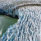 그린란드,빙하,상승,얼음,빙상,해수면