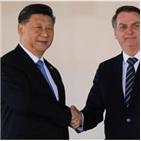 브라질,중국,보우소나,대통령,협력,주석,달러