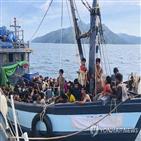 난민,난민캠프,바다,코로나19,말레이시아,방글라데시