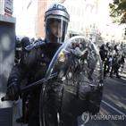 경찰,시위,시위대,워싱턴,트럼프,대통령,체포,배치,최루탄,방위군