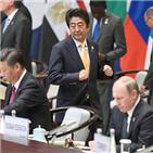 아베,총리,일본,러시아,주석,방문,국빈,외교,문제,북한