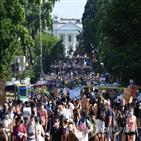 워싱턴,거리,시위,시민,플로이드,경찰,흑인,시위대,행진,금지