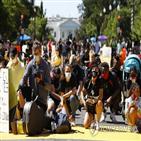 시위,경찰,워싱턴,흑인,분위기,플로이드,지역