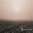 코로나19,먼지구름,사하라,미국,황사,방송