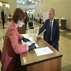 투표,푸틴,투표소,러시아,대통령,모스크바,투표율,개헌,국민투표,개헌안