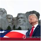 미국,트럼프,대통령,코로나19,이날,백인,독립기념일,분열,확산,시위