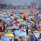 해변,휴일,마스크,사람,독립기념일