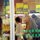 감소,소비지출,영향,일본
