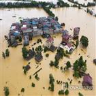 홍수,방지,장시성,수위,중국,양호,경계,업무