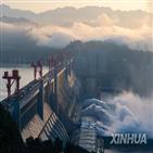 홍수,창장,수위,한국,8시,후베이성,중국,유역