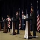 중국,미국,호주,장관,한국,민주주의,폼페이,인도,동맹