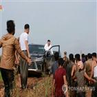 위원장,운전,모습,렉서스,북한