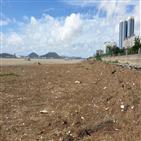 쓰레기,여객선,영산강