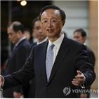 중국,한국,방한,정치국원