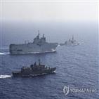 터키,그리스,지중해,위해,지역,키프로스,천연가스,프랑스,독일,해상훈련