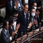 스가,세습,총리,정치인,기용,자민당,아베,오코노기,가지야마