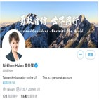 대만,미국,중국,대사,대표,주미,주재
