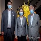 중국,대만,차관,방문,반격