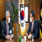 한국,회장,윈터스,대해