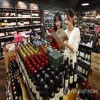 수입액,와인,맥주,위스키,감소,확산