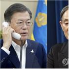 한국,요구,스가,총리,관계