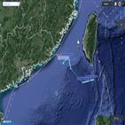 대만,중국,훈련,정찰기,미군,비행,접근
