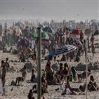 브라질,확진,해변